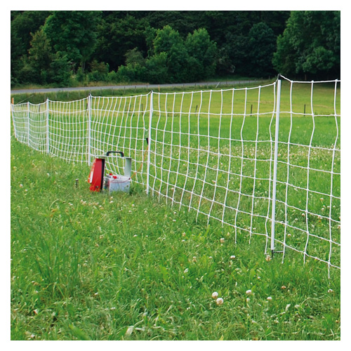 Set up of Electric Poultry Netting (white)
