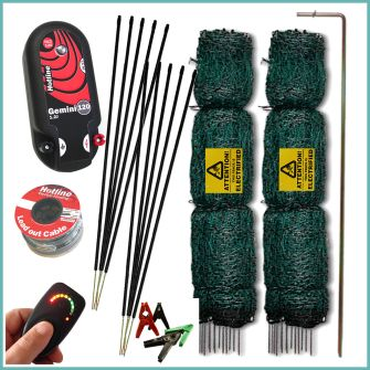 100m Electric Poultry Netting Kit (Dual Power)