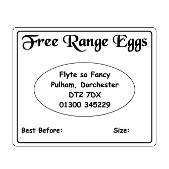 Egg Box Labels - text only