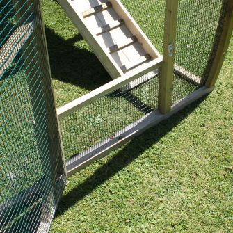Anti-Escape Mesh Panel for Arched Run Door
