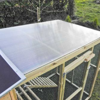 Polycarbonate Roof for Flyte Aviary Grand Run