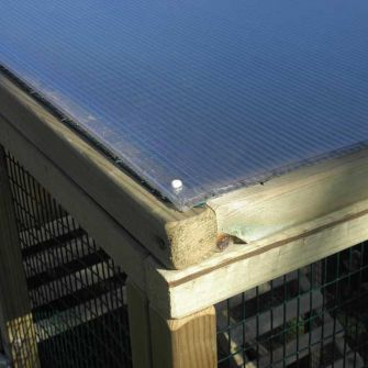 Polycarbonate Roof for Flyte Aviary 4 or 6 3ft Extension Run
