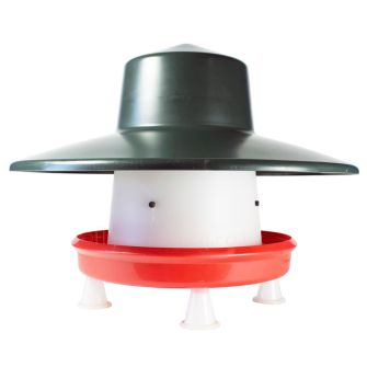 BEC Handy 12kg Poultry Feeder with Rainhat