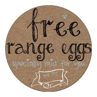 Round Buff Brown Egg Box Labels