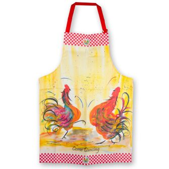 Claire Weeks Chickens Come Dancing Apron