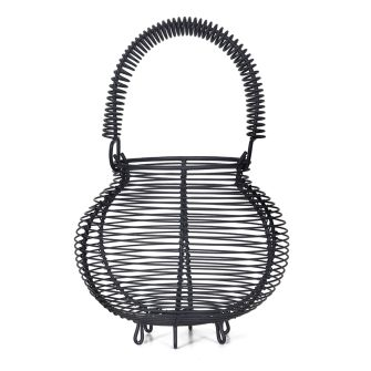 Small Round Wire Egg Basket