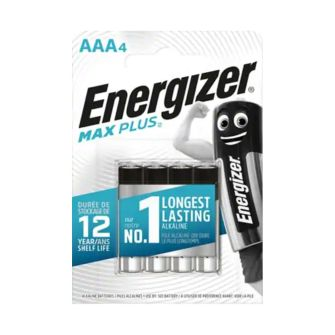 Pack of 4 AA Energizer MAX PLUS Batteries