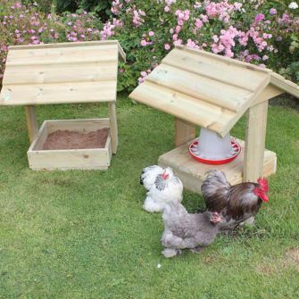 Feeder Shelter and Dustbath - pair