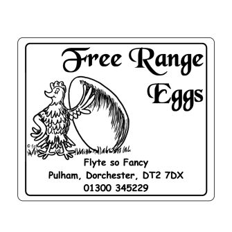 Egg Box Labels - Proud Chicken