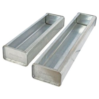 Galvanised Poultry Feeder Troughs