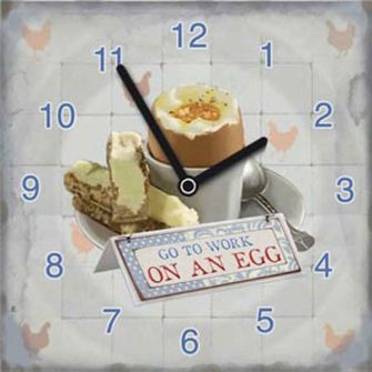 Go to work on an Egg Kitchen Clock
