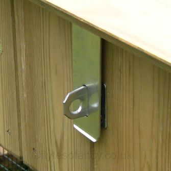 4.5in (115mm) Bright Zinc Safety Hasp & Staple