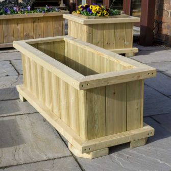 Holwell Heavy Duty Wooden Garden Planter, Large