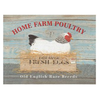 Home Farm Poultry Metal Wall Sign