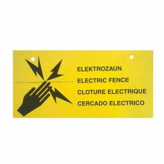 Yellow Warning Sign for Netting