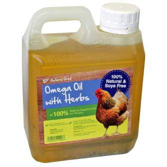 Natures Grub Omega Oil with Herbs, 1 Litre