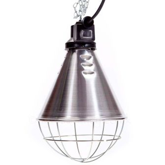 Pear Drop Infra Red Lamp with Cage & Reducer Switch