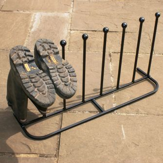 Four Pair Long Welly Boot Stand