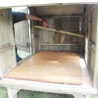 Plywood Dirt Tray for Hen Houses