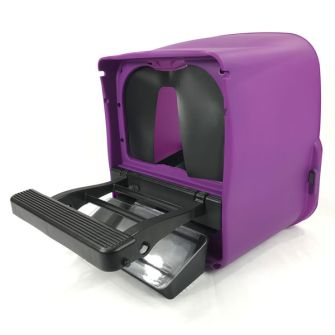 Chickbox Lite with curtain, open