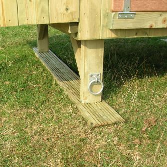 Pair of Timber Skids for Large Henhouses (with towing eyes)