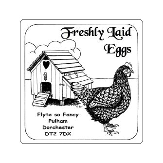 Small Egg Box Labels - Hen House and Hen