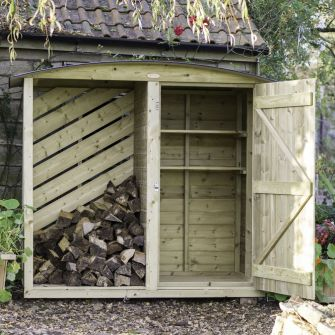 The Stronghold Twin Log & Garden Store (6ft wide)
