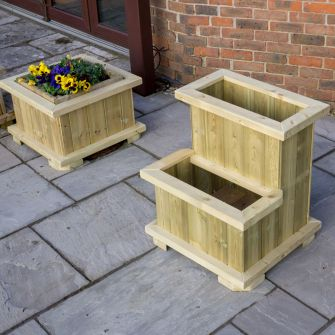 Holwell Heavy Duty Two Tier Wooden Planter