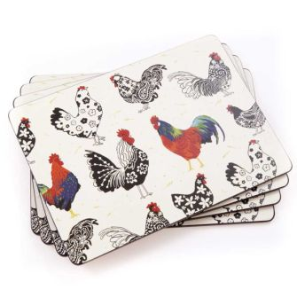 Ulster Weavers Roosters Placemats, pack of 4