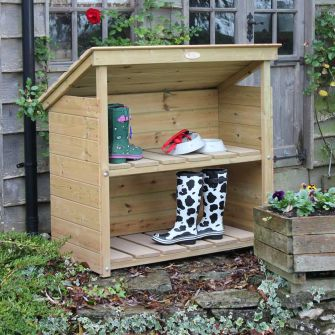 Wooden Welly Boot Shelter, Two Tier