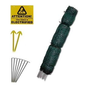 25m roll of Green Electrified Poultry Netting