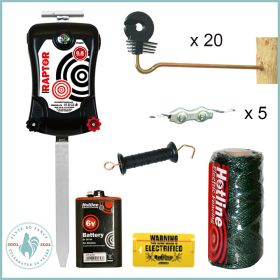 Anti-Fox Electric Fence for Poultry Runs