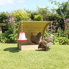 Curved Chicken Dustbath and Shelter