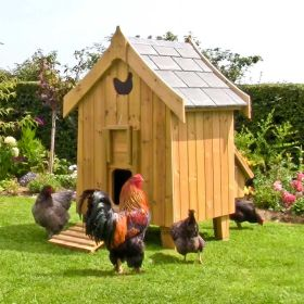 Fantasia Hen House with Brahma cockerel and hens