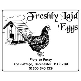 Egg Box Labels - Hen House and Hen