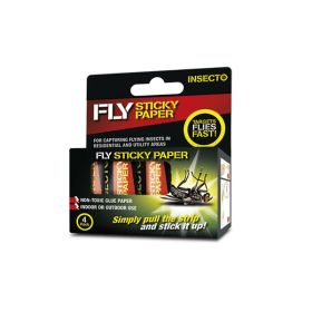 Insecto Sticky Fly Papers (Pack of 4)