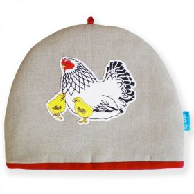 Mother Hen & Chicks Embroidered Tea Cosy