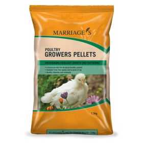 Marriages Poultry Growers Pellets, 7.5kg