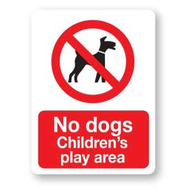 No dogs Childrens play area