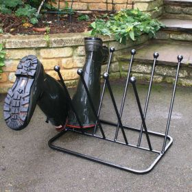 Five Pair Crossover Welly Boot Stand