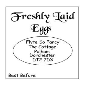 Small Egg Box Labels - Text Only