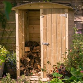 The Stronghold Twin Log & Garden Store (4ft wide)