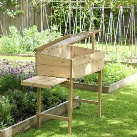 Tall Cold Frame on Legs with Shelves