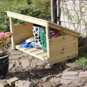 Wooden Welly Boot Shelter, Single Tier