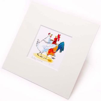 Clinton Banbury Poultry In Motion Mounted Print - LE
